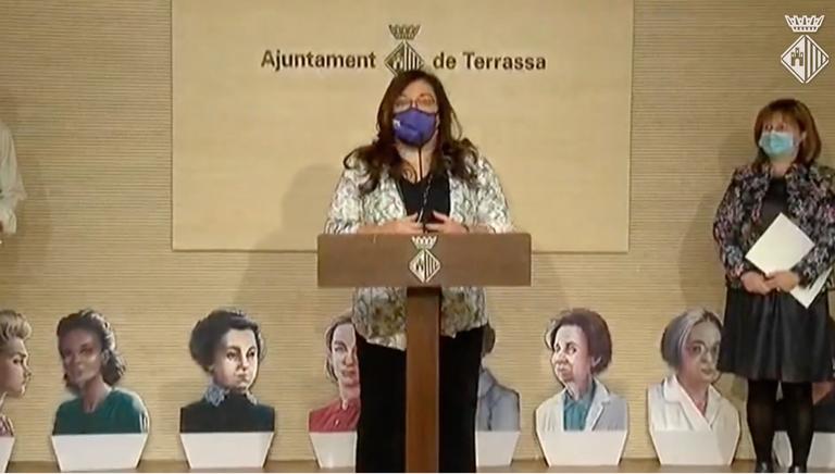 Presentació del 2n Congés Dones, Ciència I Tecnologia a càrrec de Núria Salán a l'Ajuntament de Terrassa