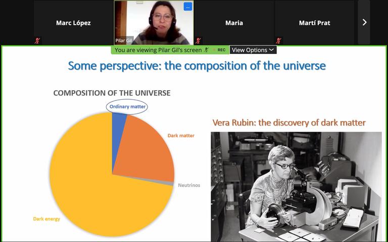 Conferència Women4Space amb Pilar Gil, doctora en Física Aplicada i professora UPC